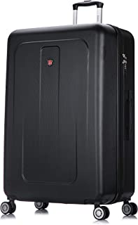 Luggage - Crypto Collection - Lightweight Hardside Spinner XL 32'' inches Black - Suitcases with Wheels