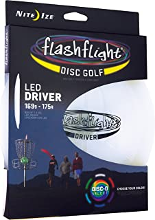 Nite Ize Flashflight LED Disc Golf Discs, Glow in the Dark for Night Play