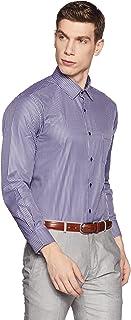 Diverse Men's Striped Regular fit Cotton Poly Formal Shirt