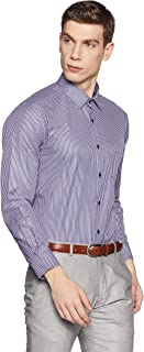Diverse Men's Striped Regular fit Cotton Poly Formal Shirt