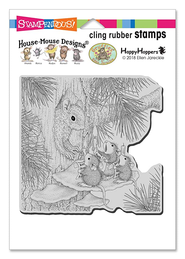 Stampendous HMCW10 House Mouse Cling, Squirrel Singers Rubber Stamp,