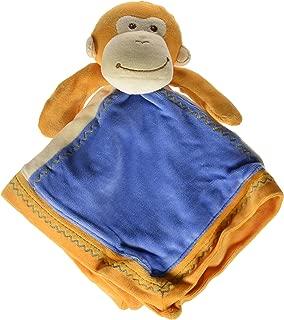 Mary Meyer Earthmates 100-Percent Organic, Monkey Baby Blanket, Orange, 16-Inches x 16-Inches