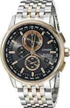 Citizen Men's AT8116-57E World Chronograph A-T Analog Display Japanese Quartz Two Tone Watch