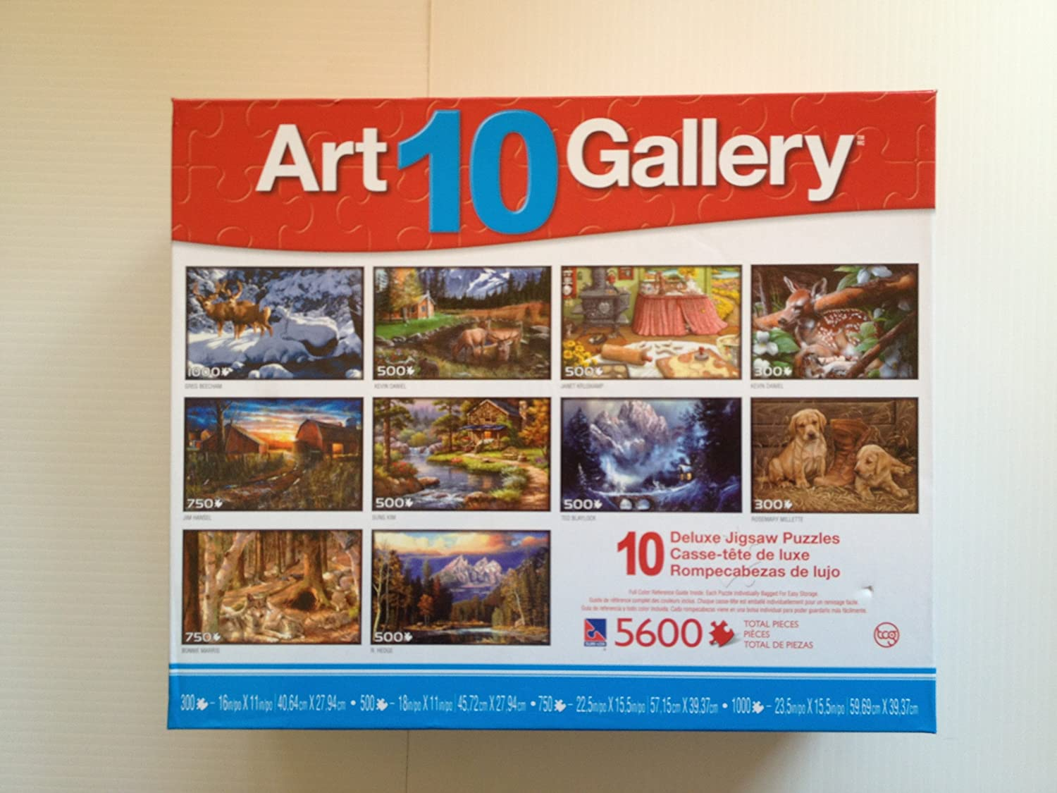Art Gallery  10 Deluxe Jigsaw Puzzles (5600 Total Pieces)