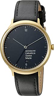Mondaine Unisex MH1.L2221.LB Helvetica Analog Swiss Quartz Black Watch