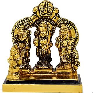 Hashcart Antique Brass Made Lord Ram Darbaar | Religious Indian Art Statue/Idol