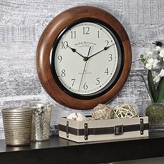 "FirsTime & Co. Walnut Round Wall Clock, 11"""