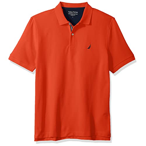 Nautica Mens Classic Short Sleeve Solid Polo Shirt