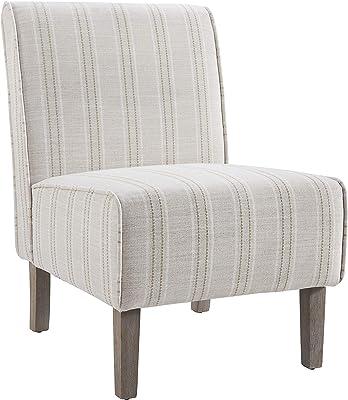 Linon Linen Stripe Slipper Lily Chair