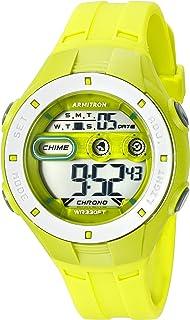 Armitron Sport Women's 45/7067LGN Digital Chronograph Lime Green Resin Strap Watch