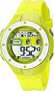 Armitron Sport Women's 45/7067LGN Digital Chronograph Lime Green Resin Strap Watch
