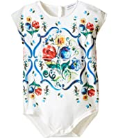 Dolce & Gabbana Kids - Escape Maiolica Floral Jersey One-Piece (Infant)