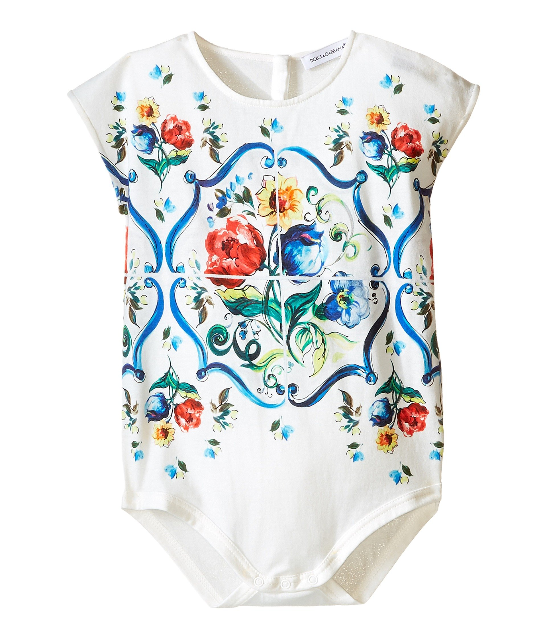 Enterizo para Bebe Dolce and Gabbana Kids Escape Maiolica Floral Jersey One-Piece (Infant)  + Dolce & Gabbana en VeoyCompro.net