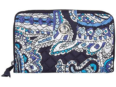 Vera Bradley RFID Turnlock Wallet (Deep Night Paisley) Wallet Handbags