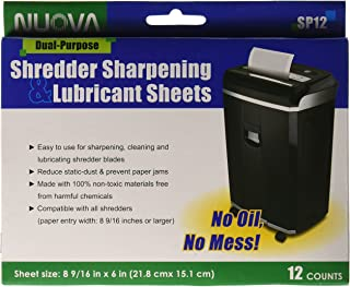 Nuova SP12 Shredder Sharpening & Lubricant Sheets, 12 Count