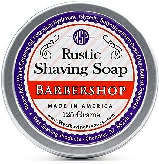 WSP Rustic Shaving Soap (Barbershop) 4.4 Oz in Tin Artisan Made in America Using Vegan Natural Ingredients