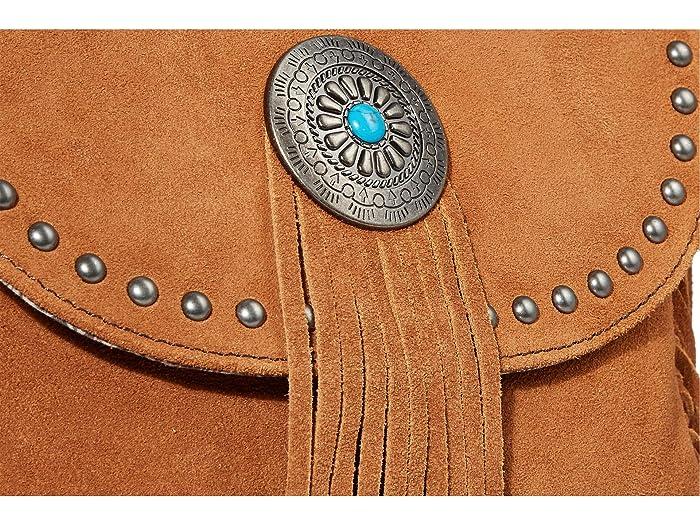 Scully Yadira Suede Fringe Handbag W/ Concho Cinnamon Handbags