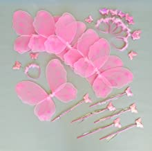 Sponsored Ad - Butterfly Craze Heart to Heart Wings & Wand (6 Set) Costume, Pink
