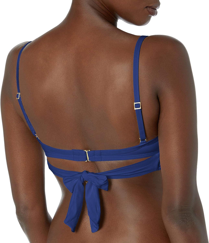 La Blanca Women's Standard Island Goddess Wrap Underwire Push Up Bikini Swimsuit Top