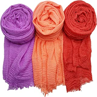 AxeSickle Women Scarf Shawl for All Season 3PCS Scarve Wrap Head Scarve Y.