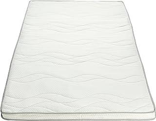 AmazonBasics - Colchoncillo de espuma viscoelástica con funda acolchada y pantografia bugnata (90 x 200 cm)