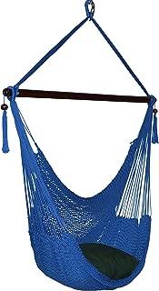 Caribbean Hammocks Large Chair - 48 Inch - Polyester - Hanging Chair - Dark Blue