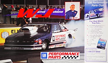 GM Performance 1994 - NHRA/Winston Drag Racing - Hero Card - Warren Johnson (The Professor) - Pro Stock/Oldsmobile Ciera Parts - Race Info on Verso - Out of Print - Rare - Collectible