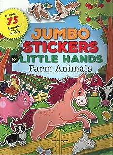 Jumbo Stickers Little Hands Farm Animals