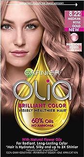 Garnier Olia Ammonia-Free Brilliant Color Oil-Rich Permanent Hair Color, 8.22 Medium Rose..