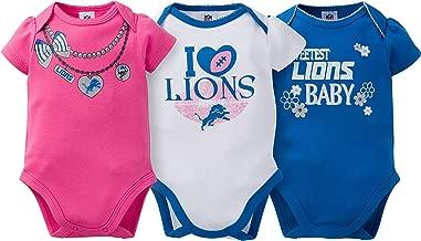 NFL Girls' 3 Pack Short Sleeve Bodysuit