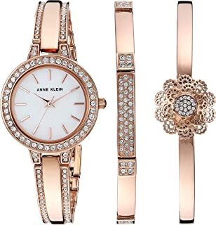 Women's AK/3355 Swarovski Crystal Accented Watch and Bangle Set