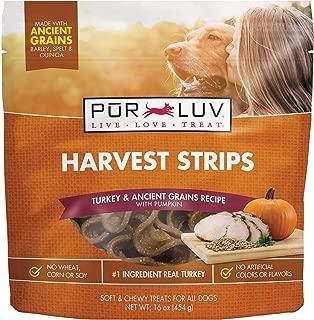Pur Luv Harvest Strips, Turkey & Pumpkin, 16 oz