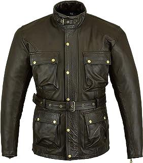 Bikers Gear Australia Vintage Trailmaster Premium Leather Jacket Brown (4XL)