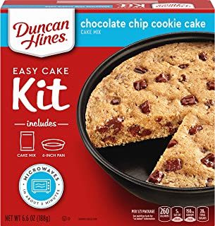Duncan Hines Perfect Size Chocolate, Chip Cookie Cake Mix, 6.6 Ounce