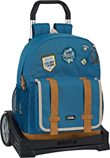 Mochila 754 con Carro Evolution Reciclable National Geographic Explorer, 320x140x430mm