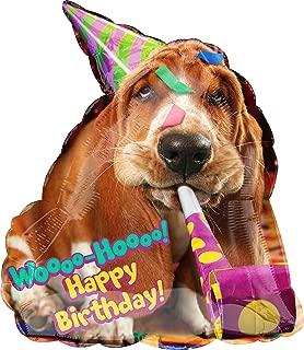 Basset Hound Dog Birthday Party Super Shape Mylar Balloon