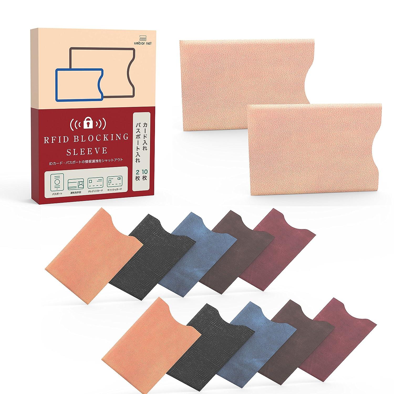 アンバー ネット RFID & 磁気スキミング防止 パスポートカード ケース
