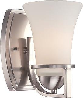 Nuvo照明60/ 5481Nevalシングルライト5インチワイドバスルームSconceフロステッドGL、 60/5481 1