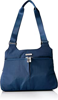 Baggallini Satchel Bag - Lightweight Roomy Purse with Zippered Interior and Exterior Pockets and Removable RFID Wristlet