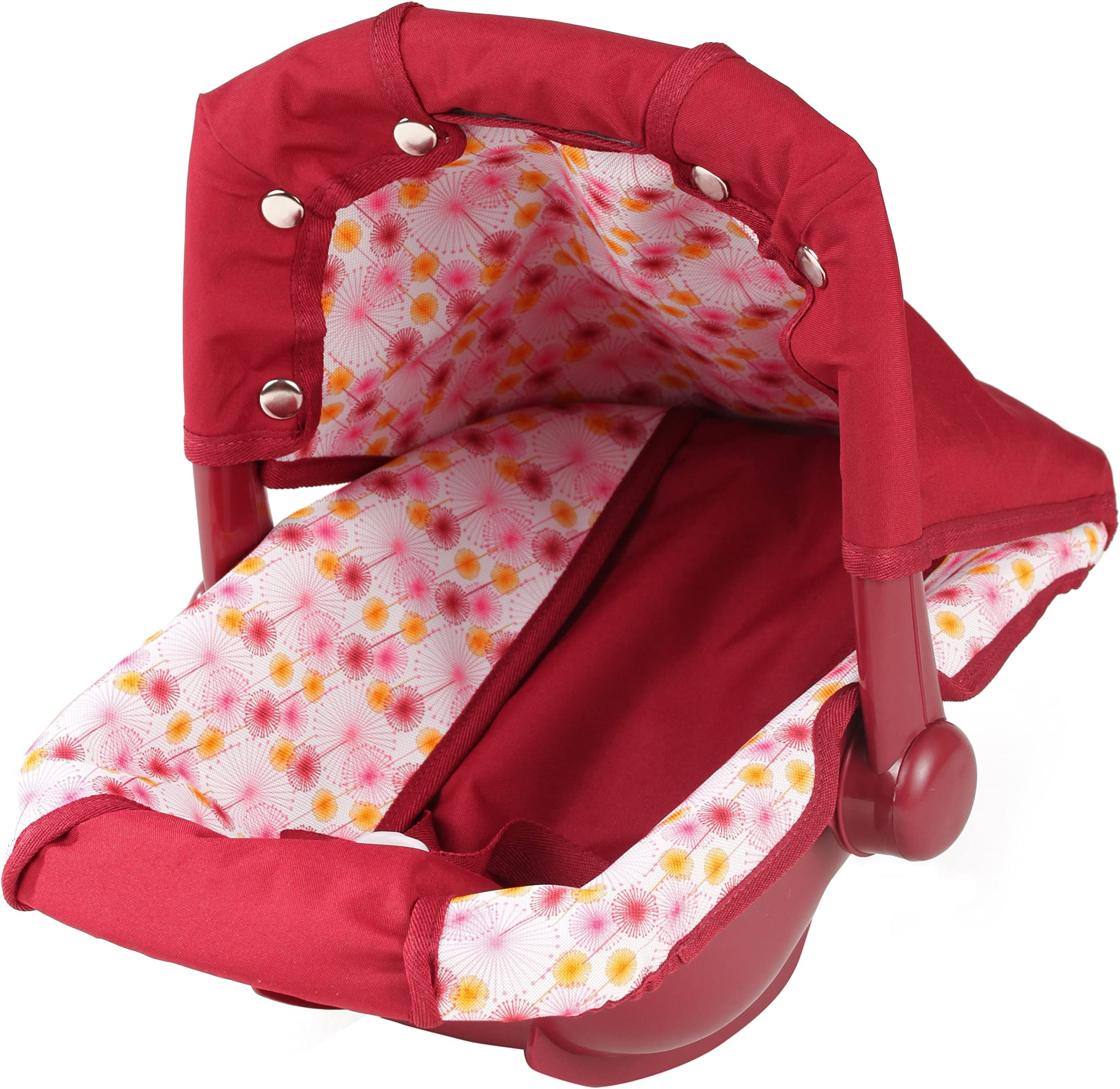 Gotz Baby Doll Car Seat Carrier with Canopy for Dolls up to 16.5 inches