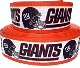 ny giants grosgrain ribbon