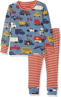 Hatley Boys' Organic Cotton Long Sleeve Mini Pajama Set