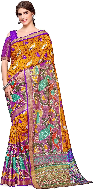 Kupinda Kalamkari Style Raw Silk Saree color   gold 4195SALN15PTGLD