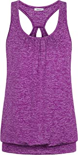 Womens Scoop Neck Sleeveless Loose Fit Sport Racerback Workout Tank Top