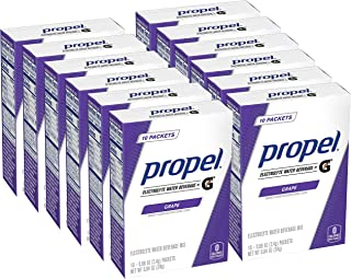 Propel Powder Packets Grape With Electrolytes, Vitamins and No Sugar, 0.84 Ounce (Pack of 12)