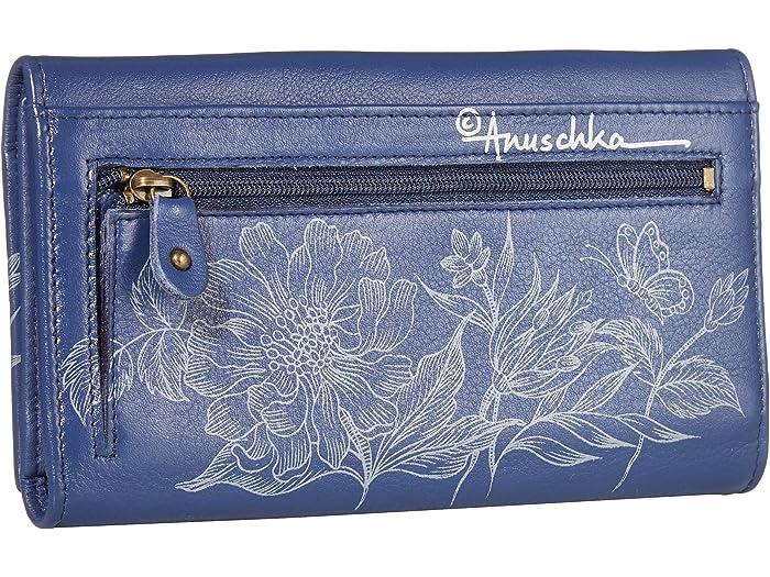 Anuschka Handbags Embrague Rfid Triple Plegable Wallet - 1150 Garden Of Delights Wallets
