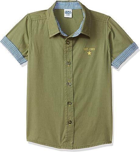 Amazon Brand - Jam & Honey Boy's Regular Fit Shirt