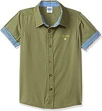 Amazon Brand - Jam & Honey Boy's Plain Regular fit Cotton Shirt