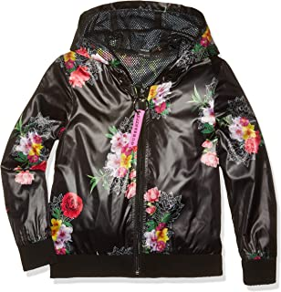 Girls' Big Floral Logo Graphic Zip Up Hoodie