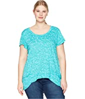 Plus Size Waves Twin Peaks Top